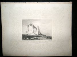 Ethiopia C1860 Antique Print. Ruined Temple of Isis, Ghertashier